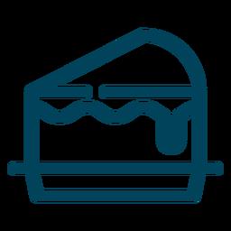 Icono de trazo de rebanada de pastel