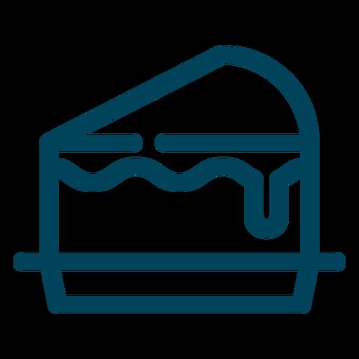Icono de trazo de rebanada de pastel Transparent PNG