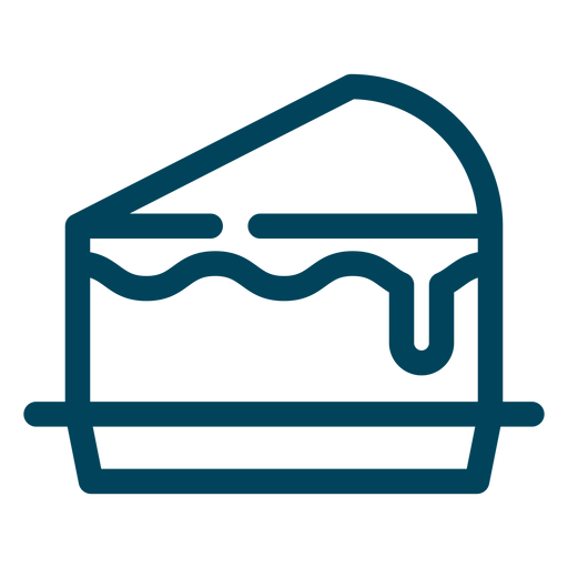 Kuchen-Slice-Symbol Transparent PNG