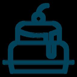 Icono de trazo de la torta