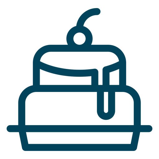 Cake stroke icon Transparent PNG