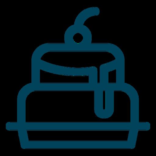 Cake stroke icon