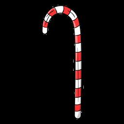 Desenhos animados de bengala de doces