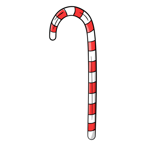 Candy cane cartoon Transparent PNG