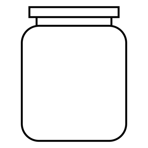 Icono de trazo de tarro de conservas