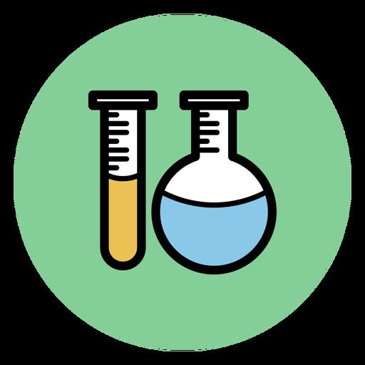 Ícone de tubos de química Transparent PNG