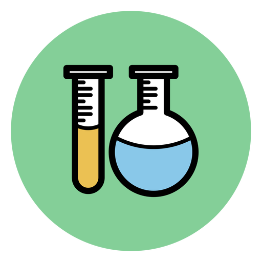 Chemistry tubes icon Transparent PNG