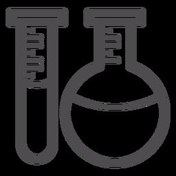 Icono de trazo de tubos de química