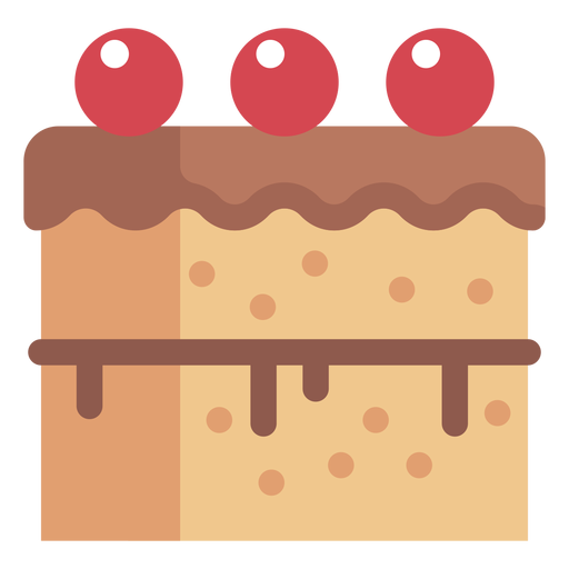 Cherry cake icon Transparent PNG
