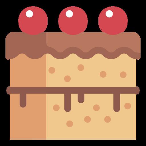 Cherry cake icon
