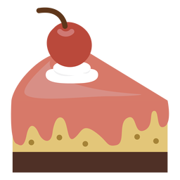 Cherry cake slice icon