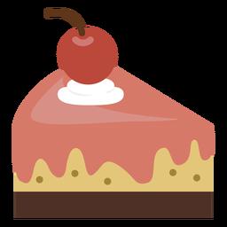 Icono de rebanada de pastel de cereza