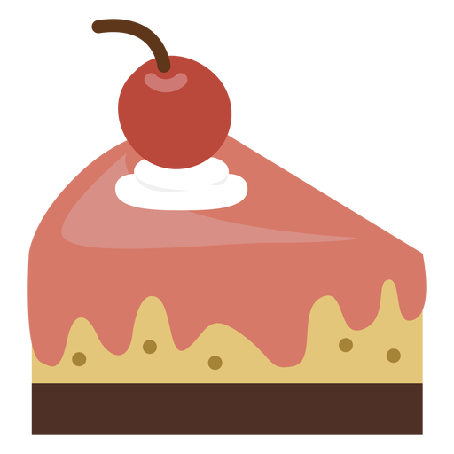 Cherry cake slice icon Transparent PNG