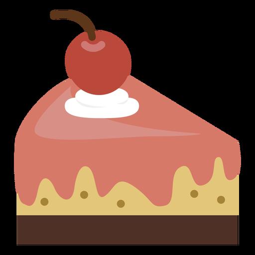 Cherry cake slice icon