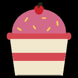 Icono de cupcake de cereza