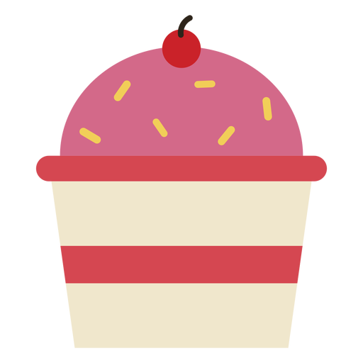 Cherry cupcake icon Transparent PNG