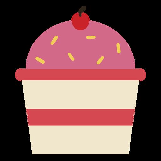 Kirsche Cupcake-Symbol Transparent PNG