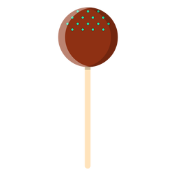 Chocolate ball lollipop icon