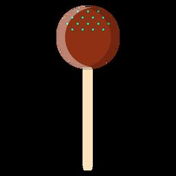Icono de piruleta de bola de chocolate
