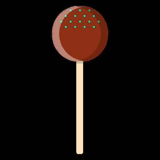 Ícone de pirulito de bola de chocolate Transparent PNG