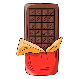 Chocolate bar cartoon