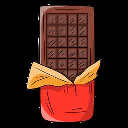 Desenhos animados de barra de chocolate