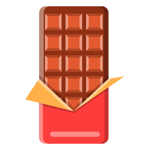 Icono de barra de chocolate Transparent PNG