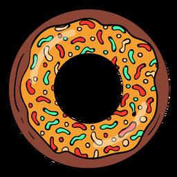 Dibujos animados de chocolate donut donut