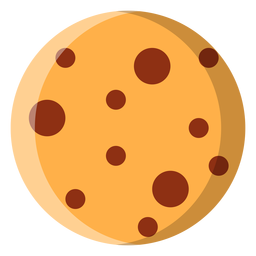 Chocolate chip cookie icon