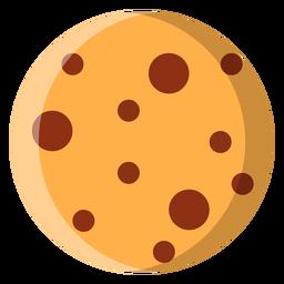 Icono de cookie de chispas de chocolate