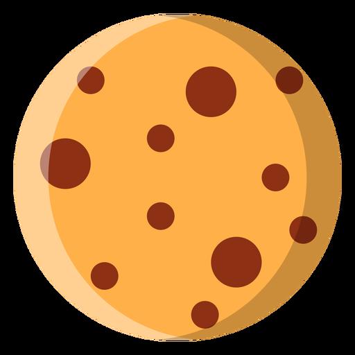 Icono de galleta con chispas de chocolate