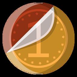 Icono de la moneda de chocolate