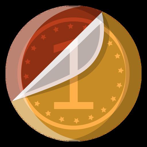 Icono de moneda de chocolate