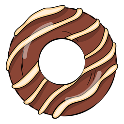 Chocolate donut cartoon