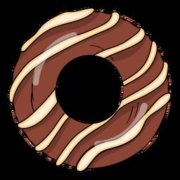 Desenhos animados de donut de chocolate