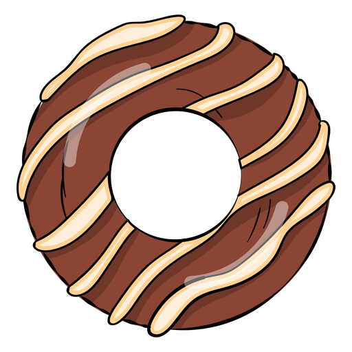 Chocolate donut cartoon Transparent PNG