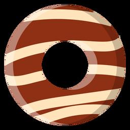 Icono de donut de chocolate