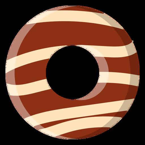 Ícone de donut de chocolate Transparent PNG