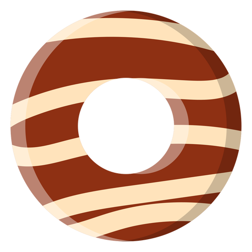 Chocolate donut icon Transparent PNG