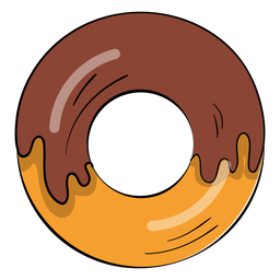Chocolate doughnut cartoon
