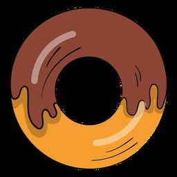 Dibujos animados de rosquilla de chocolate