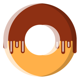 Chocolate doughnut icon