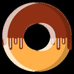 Ícone de donut de chocolate
