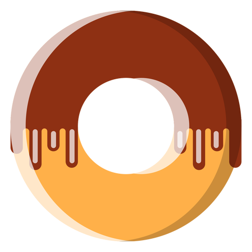 Ícone de donut de chocolate Transparent PNG