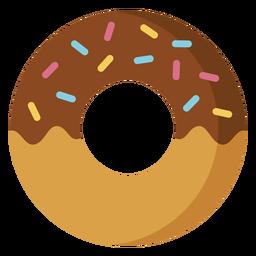 Ícone de sobremesa de ícone de donut de chocolate
