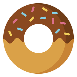 Icono de postre de icono de donut de chocolate