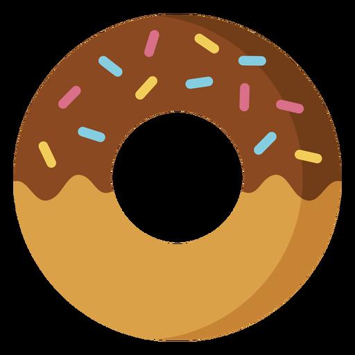 Ícone de sobremesa de ícone de donut de chocolate Transparent PNG