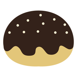 Chocolate jam doughnut icon