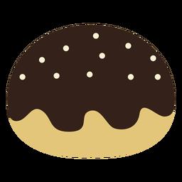 Icono de buñuelo de mermelada de chocolate