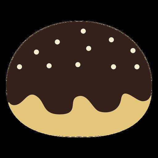 Chocolate jam doughnut icon Transparent PNG